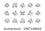 teamwork line icons. remote...   Shutterstock .eps vector #1987148063