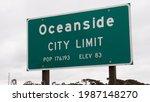 Oceanside  California  Usa....