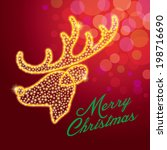deer reindeer merry christmas...   Shutterstock .eps vector #198716690