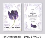 two minimalist card templates...   Shutterstock .eps vector #1987179179
