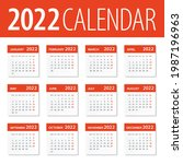 2022 calendar leaves set  ... | Shutterstock .eps vector #1987196963
