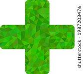 low poly veterinary cross... | Shutterstock .eps vector #1987203476