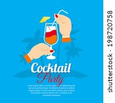 cocktail party two hands... | Shutterstock .eps vector #198720758