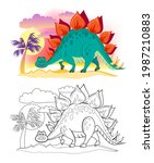 colorful and black and white... | Shutterstock .eps vector #1987210883