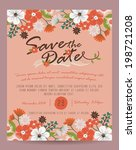 save the date card   vintage...   Shutterstock .eps vector #198721208