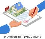 isometric signed real estate... | Shutterstock .eps vector #1987240343