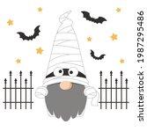 cute scandinavian gnome... | Shutterstock .eps vector #1987295486