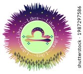 libra moon sign. zodiac sign... | Shutterstock .eps vector #1987297586