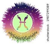 pisces moon sign. zodiac sign... | Shutterstock .eps vector #1987299389