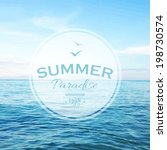 summer time poster  vector... | Shutterstock .eps vector #198730574