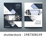annual report brochure flyer... | Shutterstock .eps vector #1987308149
