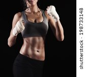 athletic woman ready for... | Shutterstock . vector #198733148