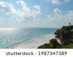 Coastline Of Mayan Ruins On A...