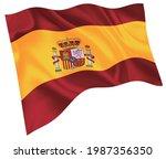 spain national flag world icon    Shutterstock .eps vector #1987356350
