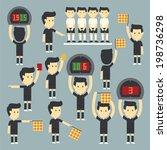 football referee set | Shutterstock .eps vector #198736298