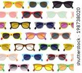 hipster sunglasses seamless... | Shutterstock .eps vector #198738020