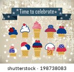 cute independence day ice... | Shutterstock .eps vector #198738083
