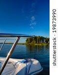 speedboat bow with sun... | Shutterstock . vector #19873990