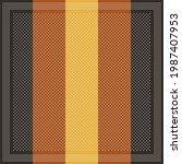 scarf design for autumn winter... | Shutterstock .eps vector #1987407953