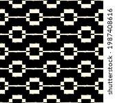 ethnic motif handdrawn print.... | Shutterstock .eps vector #1987408616