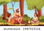 hiking guitar composition with...   Shutterstock .eps vector #1987415126