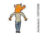 cartoon fox woman | Shutterstock . vector #198742088