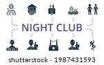 Night Life Icon Set. Contains...