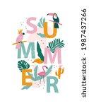 summer holiday cards. hand...   Shutterstock .eps vector #1987437266