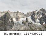 Close Up Of A Glacier In Alps ...