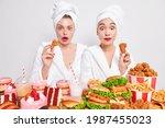 Surprised Female Models Eat...