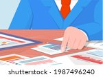 visualize with business... | Shutterstock .eps vector #1987496240