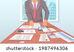 visualize with business... | Shutterstock .eps vector #1987496306