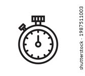stopwatch vector icon in...