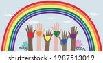 vector illustration of lgbt... | Shutterstock .eps vector #1987513019