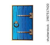 old fairytale door with forged... | Shutterstock .eps vector #1987517420