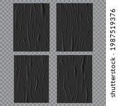 black glued wet posters ... | Shutterstock .eps vector #1987519376