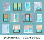 home and office interior window ... | Shutterstock .eps vector #1987519439