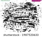 grunge black on transparent  ... | Shutterstock .eps vector #1987520633