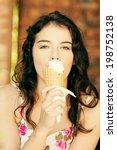 portrait of young happy woman... | Shutterstock . vector #198752138