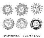 set of mystic sun. collection... | Shutterstock .eps vector #1987541729