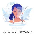 doctor plastic surgeon drawing...   Shutterstock .eps vector #1987542416