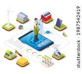 smart organic farming... | Shutterstock .eps vector #1987542419