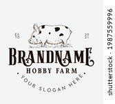 Kune Kune Pig Farm Logo Design