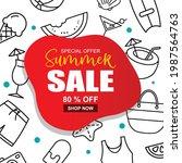 summer sale banner cover...   Shutterstock .eps vector #1987564763