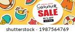 summer sale banner cover...   Shutterstock .eps vector #1987564769
