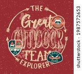 the great outdoor wildlife kids ... | Shutterstock .eps vector #1987572653