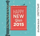 happy new year 2015 card | Shutterstock .eps vector #198757649