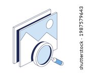 search magnifier pictures.... | Shutterstock .eps vector #1987579643