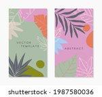 set of insta  story templates...   Shutterstock .eps vector #1987580036