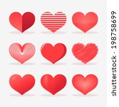 red heart set design | Shutterstock .eps vector #198758699